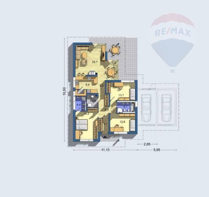 Predaj 4 izb. novostavba bungalov Levice časť Krížny vrch