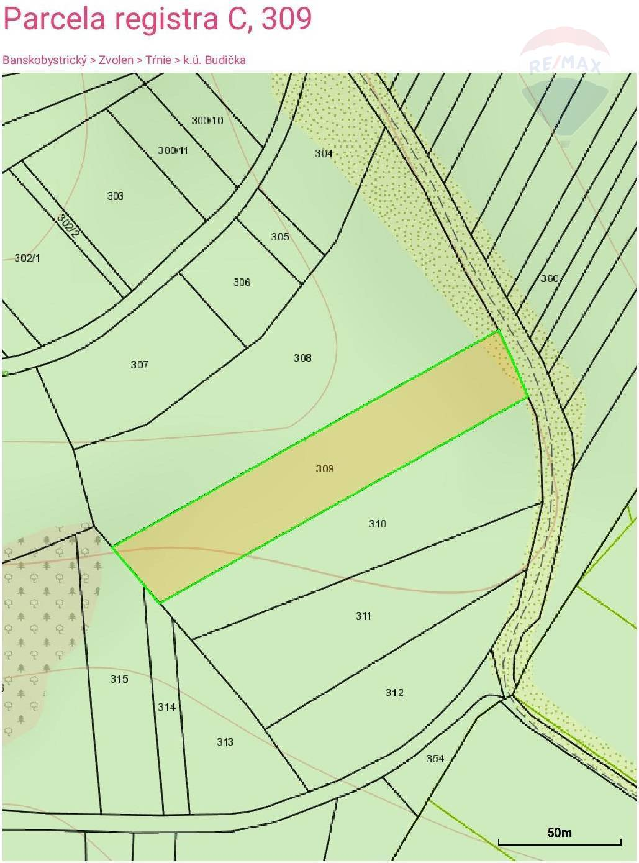 Predaj pozemku 5199 m2, Budička, okres Zvolen
