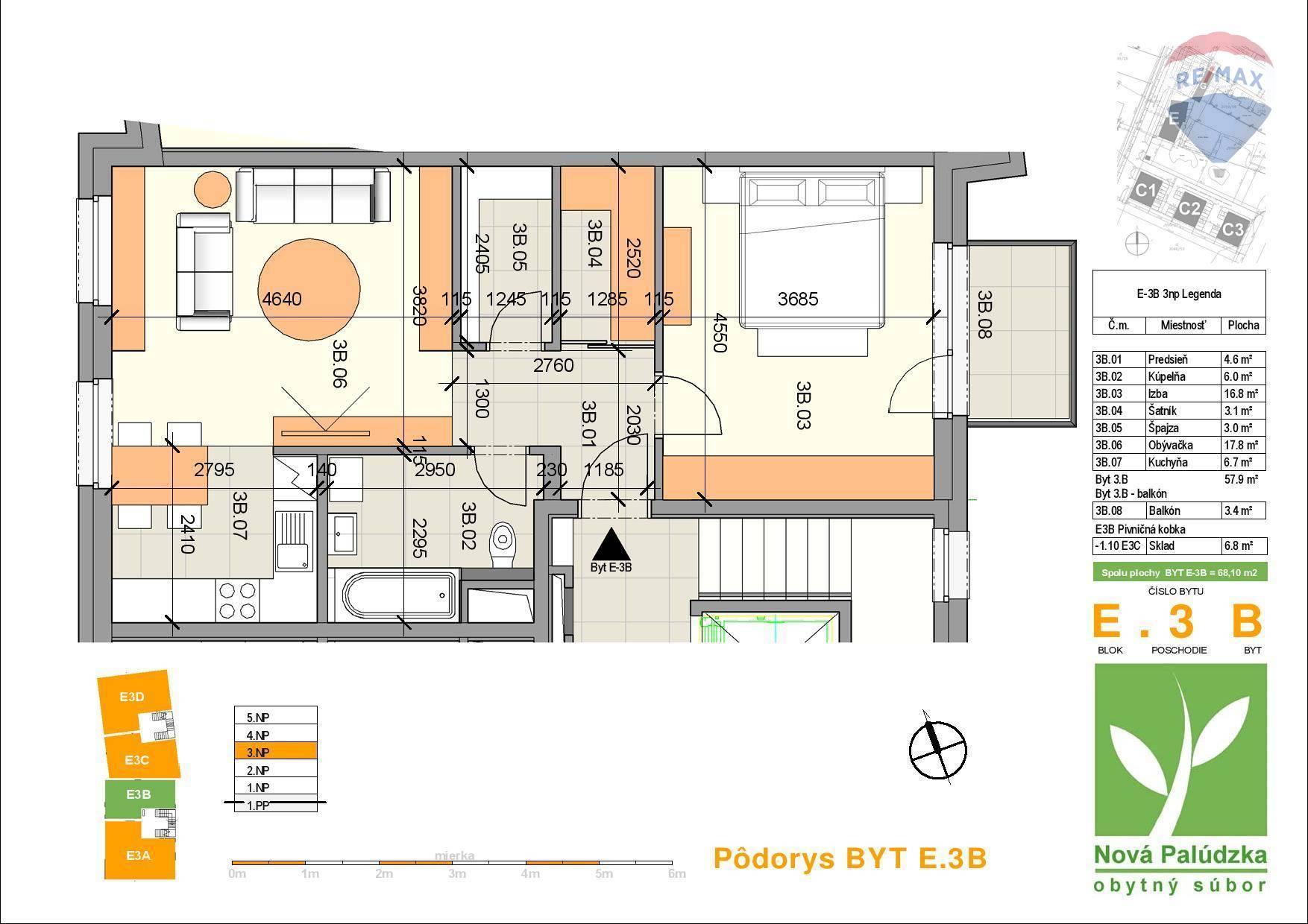 Na predaj 2 izbový byt v novostavbe v Liptovskom Mikuláši - Palúdzka
