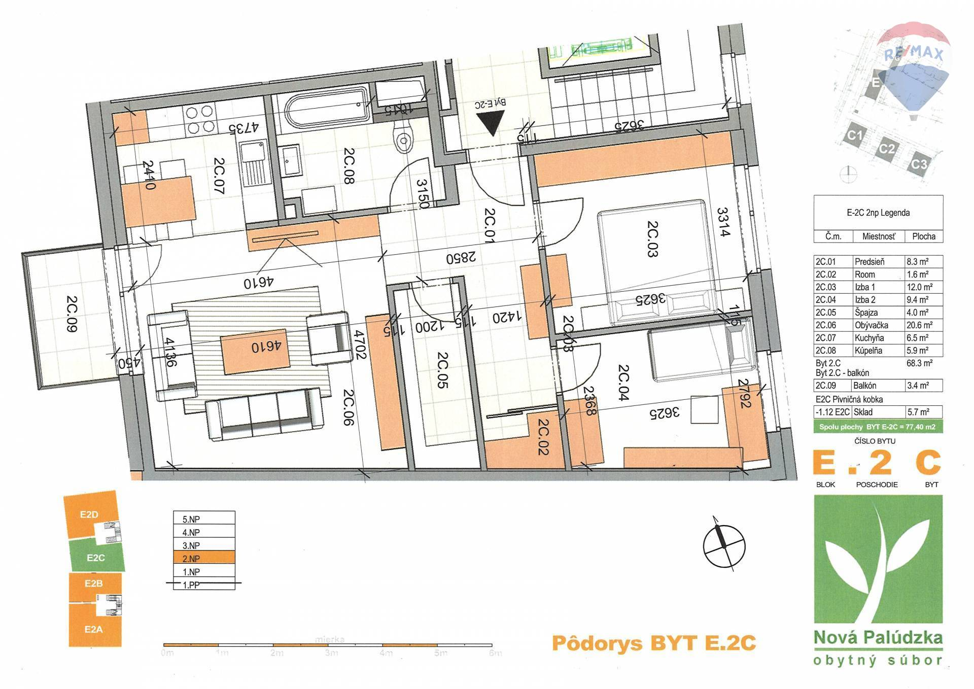Na predaj 3 izbový byt v novostavbe v Liptovskom Mikuláši - Palúdzka