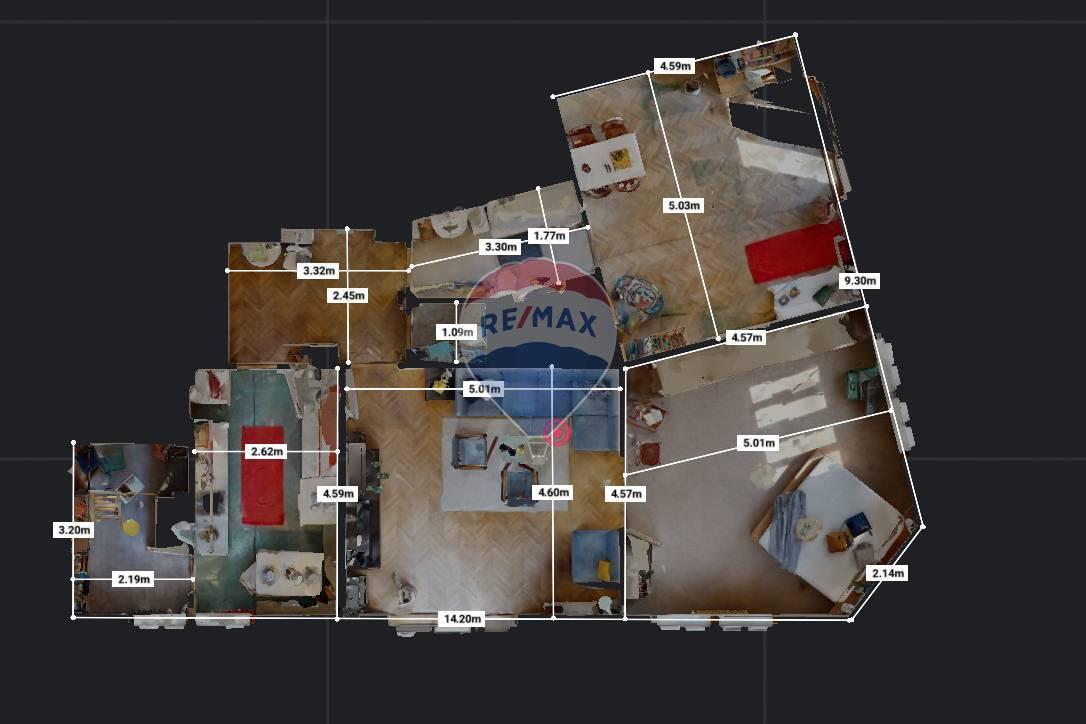 Predaj bytu (4 izbový) 100 m2, Bratislava - Staré Mesto - pôdorys bytu