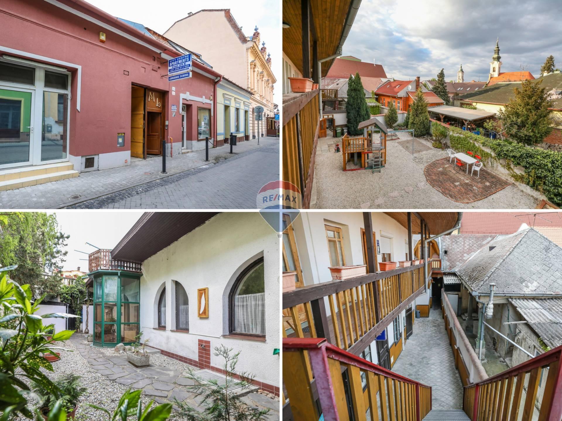 Zabehnutý penzión so 7 komfortnými apartmánmi a obchodnými priestormi v historickom centre Komárna