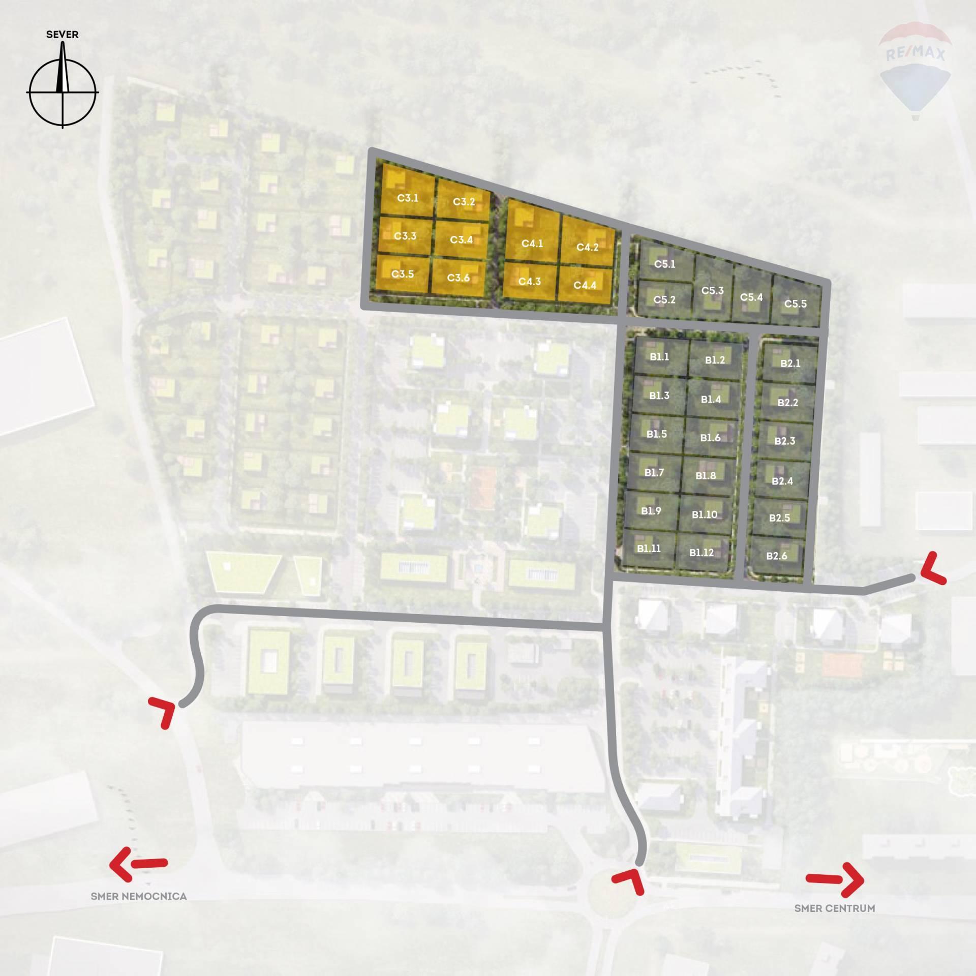 """Stavebné pozemky pre rodinné domy a občiansku vybavenosť  """"Kasárne"""" Brezno"""