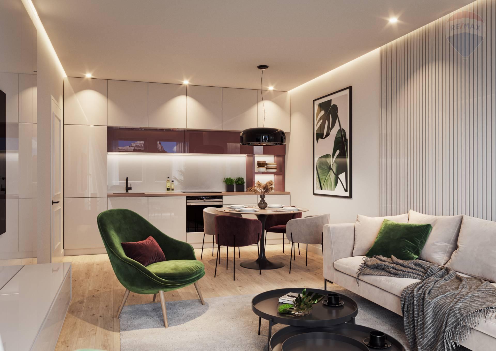 2 izbový byt na predaj, novostavba, projekt Rezidencia Pod Hradom