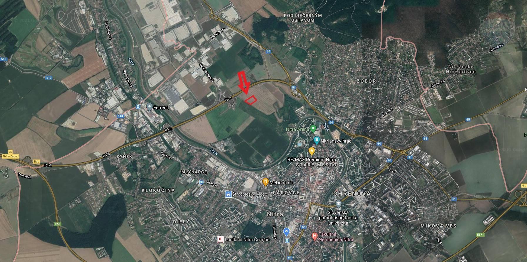 Predaj pozemku 1946 m2, Nitra - Lokalita