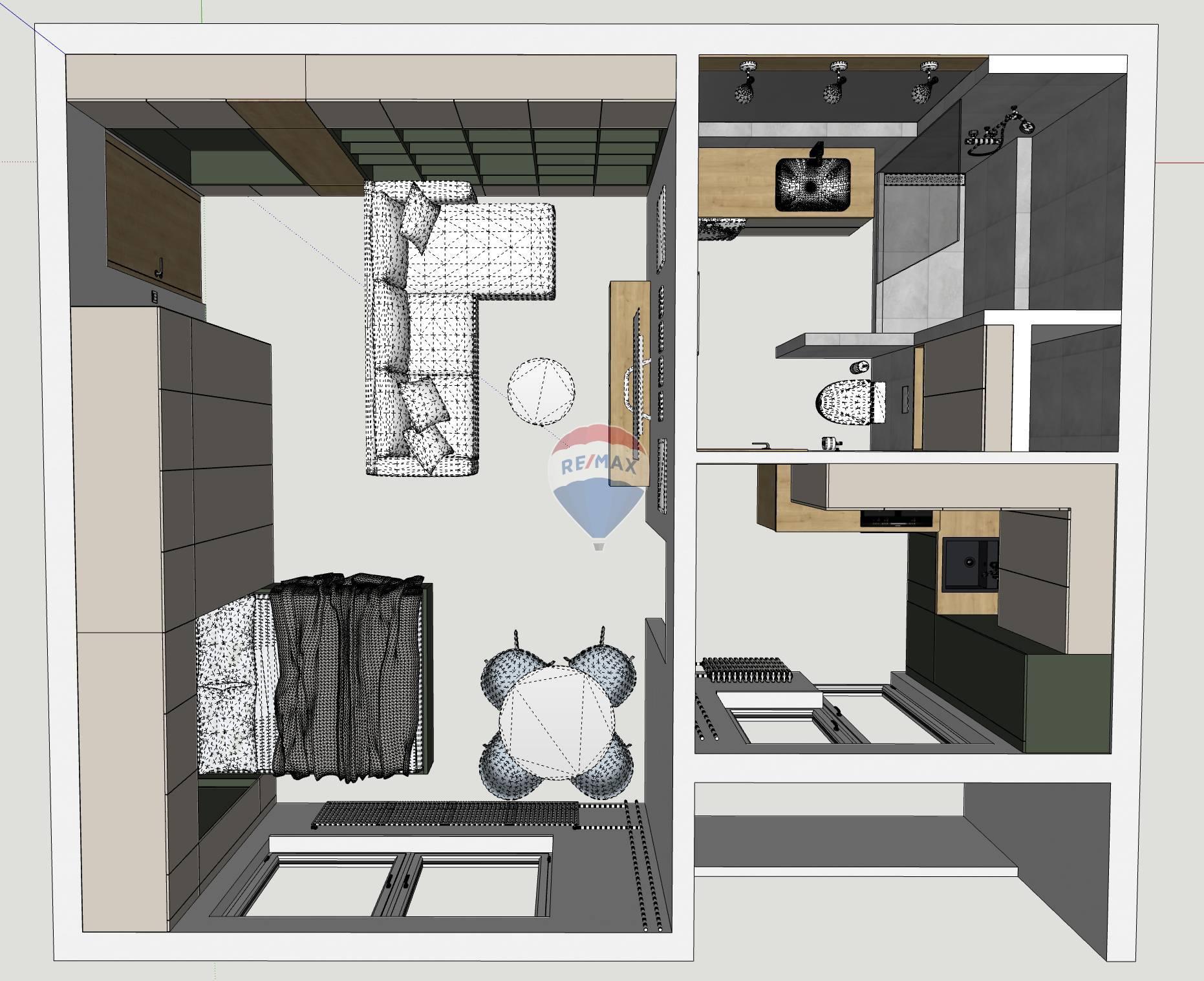 Na predaj kompletna zrekonšruovaný 1-izbový byt 37m2 v meste Šamorín