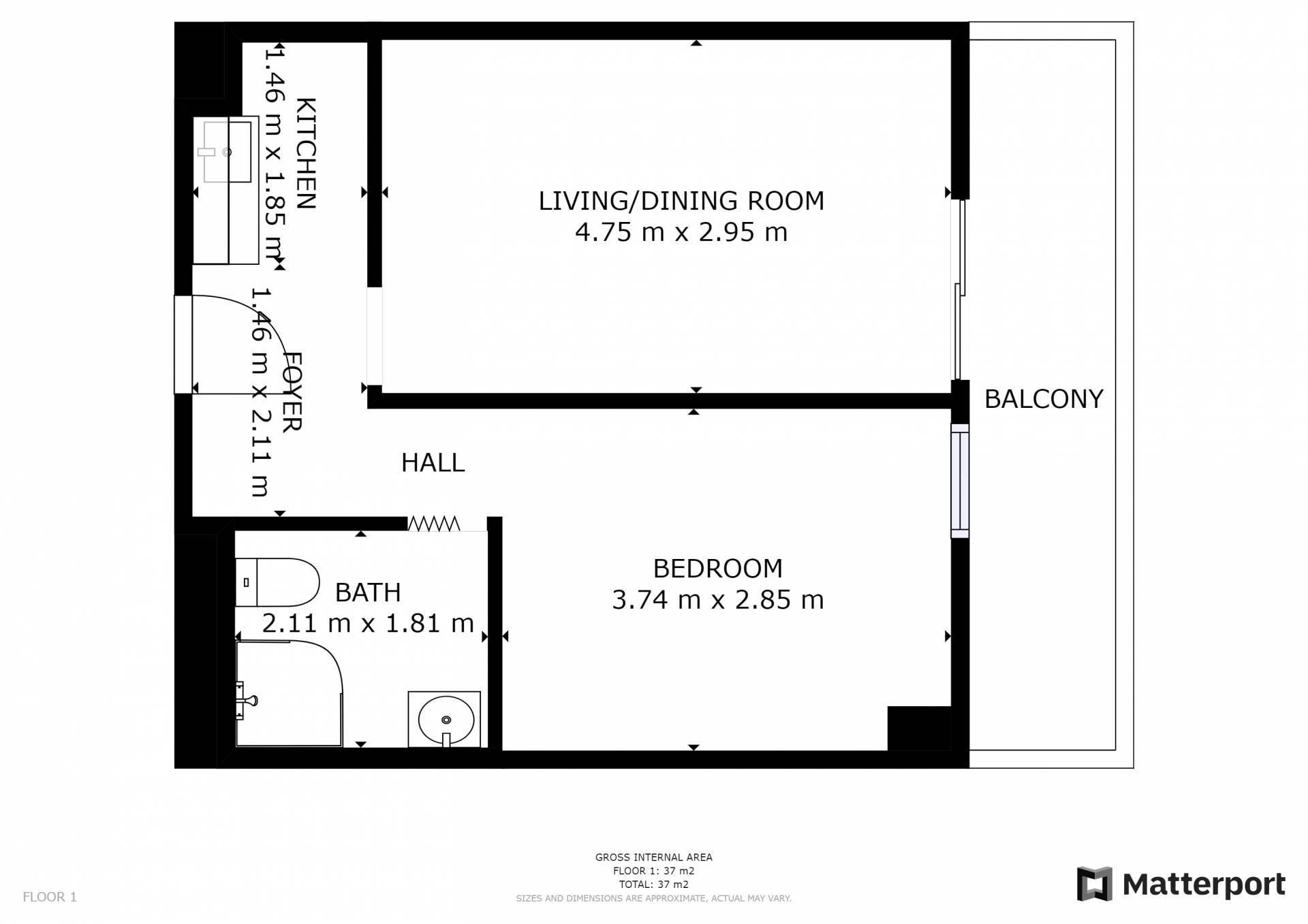 Predaj bytu (1 izbový) 38 m2, Bratislava - Vrakuňa -